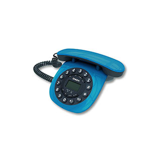 Uniden At8601 Blue Corded Landline Phone
