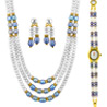 Rakhi Gifts to India, Jpearls Appealing Pearl Necklace Set with Watch
