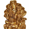 Antique Brass Shankar Parvati with Naga